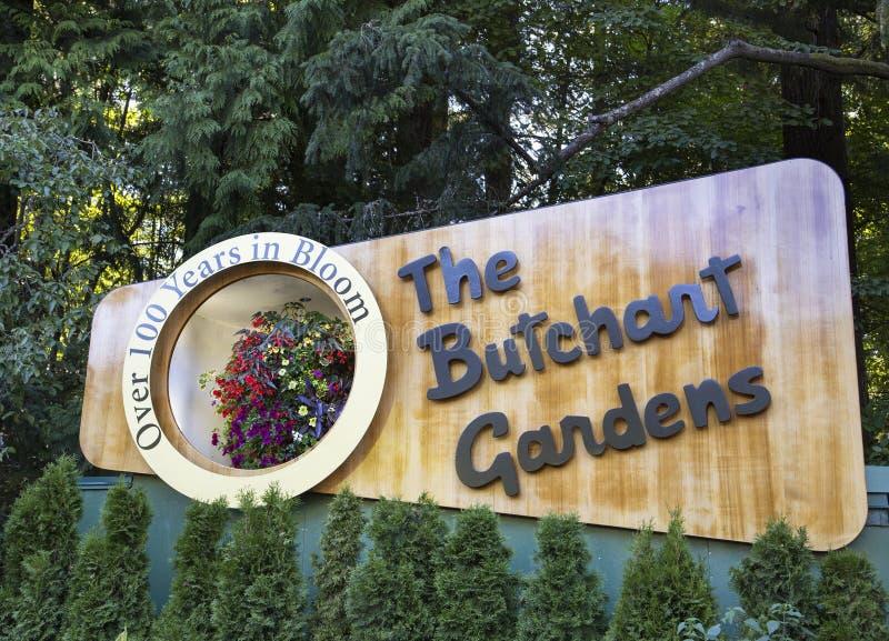 Saluti dai giardini di Butchart fotografia stock