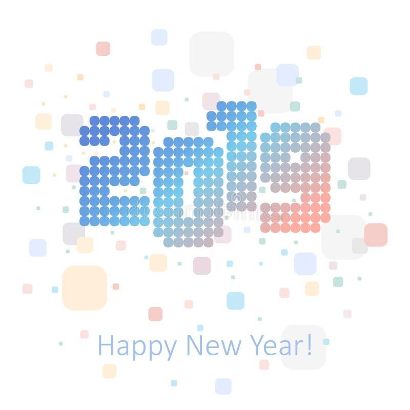 saluti del ` s da 2019 nuovi anni, iscrizione della discoteca, retro illustrazione di stock