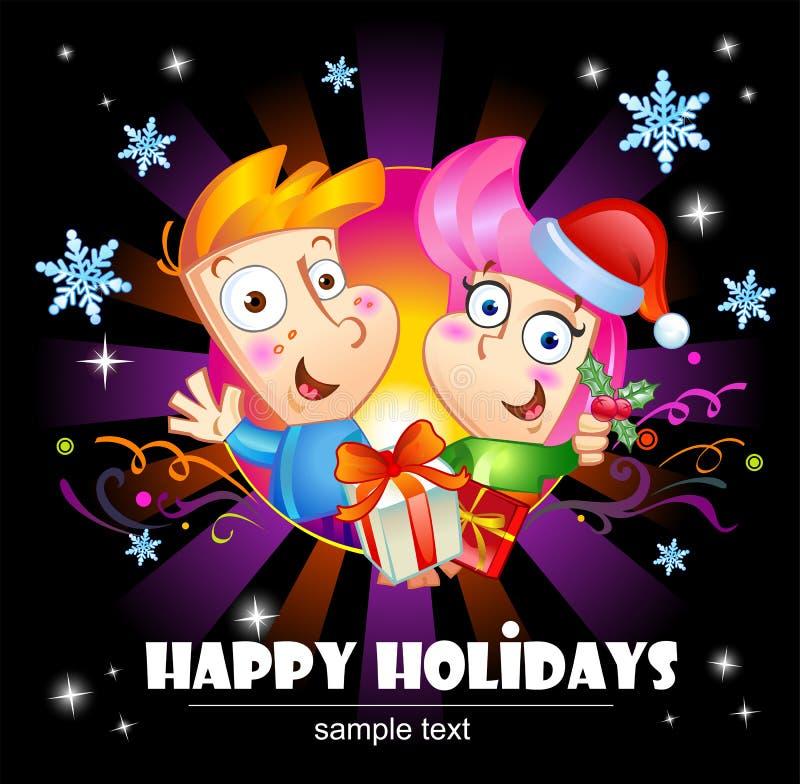 Saluti felici di feste illustrazione di stock
