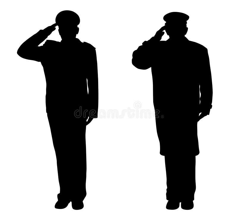 Saluting vector illustration