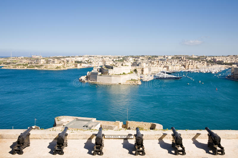 Saluting Battery, Valletta, Malta royalty free stock image