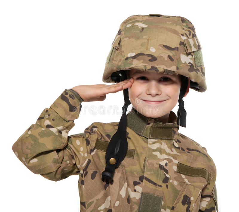 Download Saluting Soldier. Young Boy Stock Image - Image: 17512627