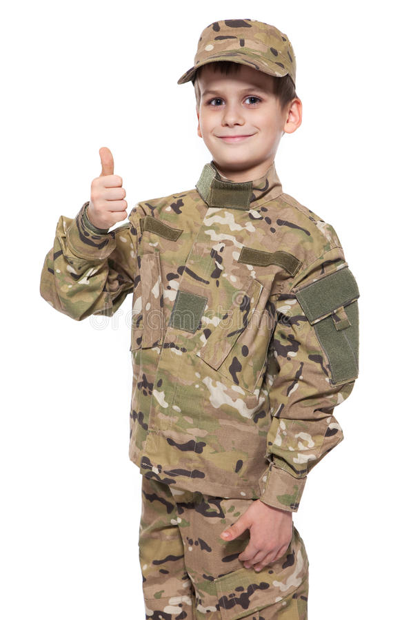 Download Saluting Soldier. Young Boy Stock Photo - Image: 17587870