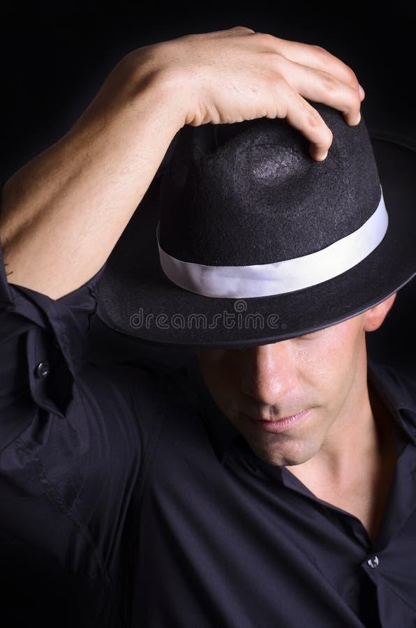 Saluto del cappello immagini stock