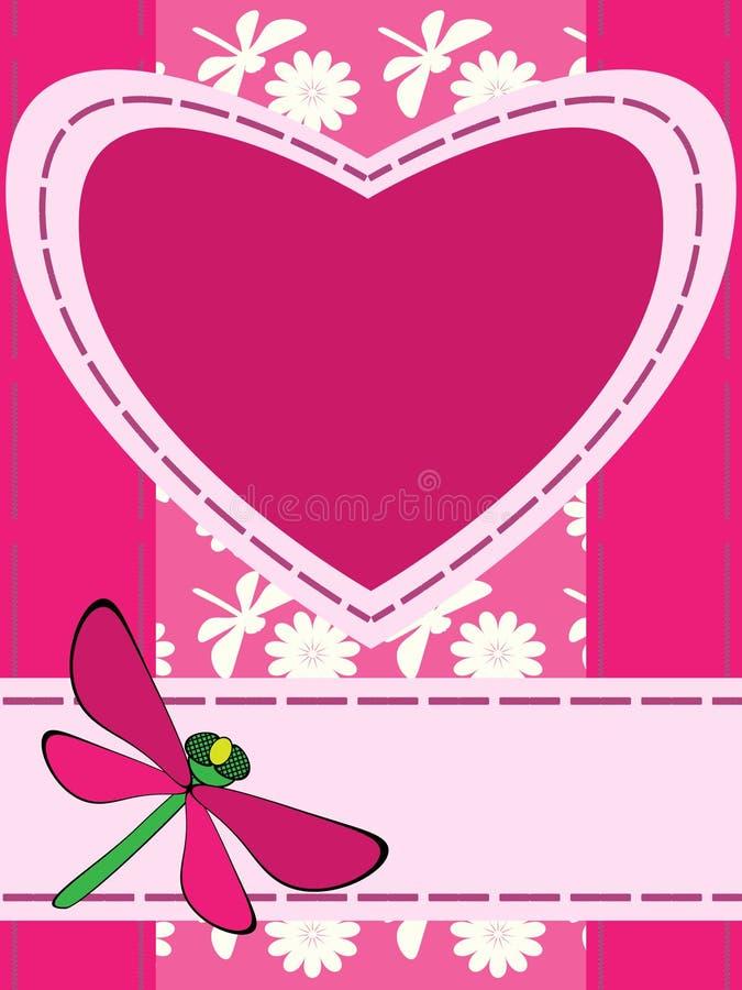 Saluto della scheda con il cuore royalty illustrazione gratis