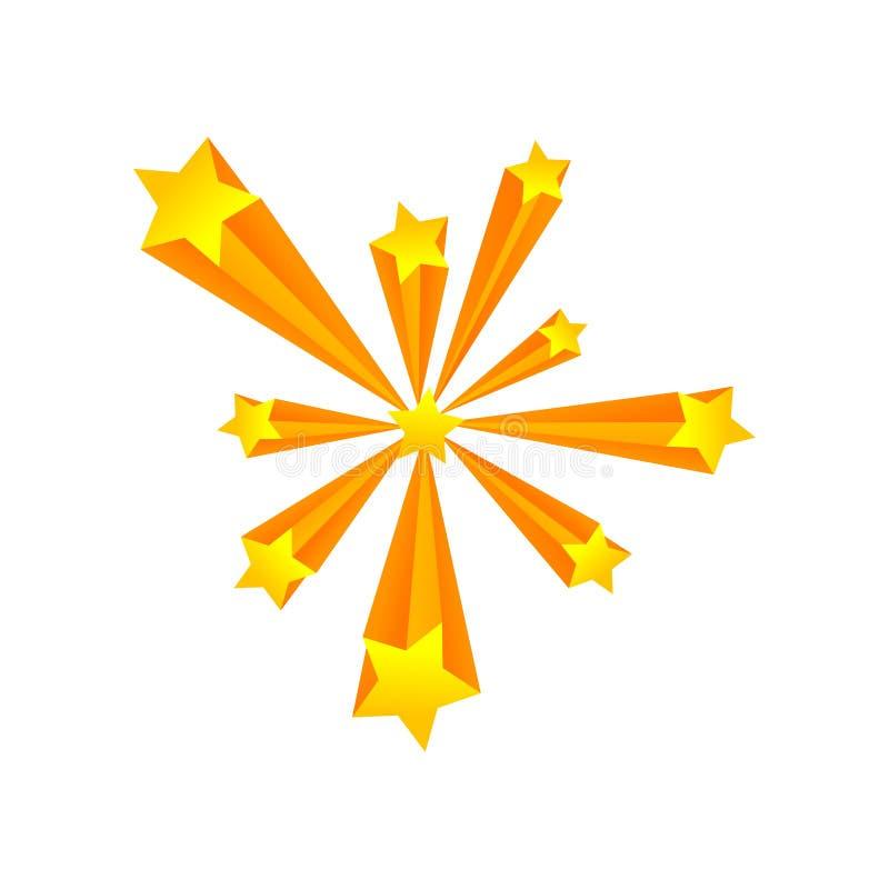 Saluto delle stelle delle dimensioni differenti Illustrazione di vettore su priorit? bassa bianca royalty illustrazione gratis