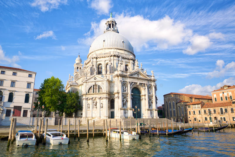 Saluto di della della Santa Maria della basilica immagini stock libere da diritti