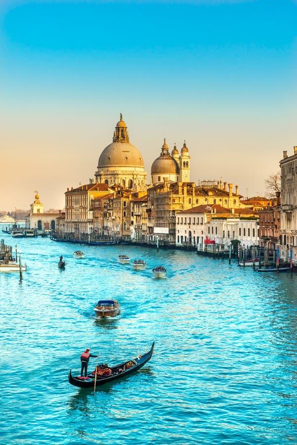 Saluto di della di Santa Maria della basilica, Venezia, Italia fotografia stock libera da diritti