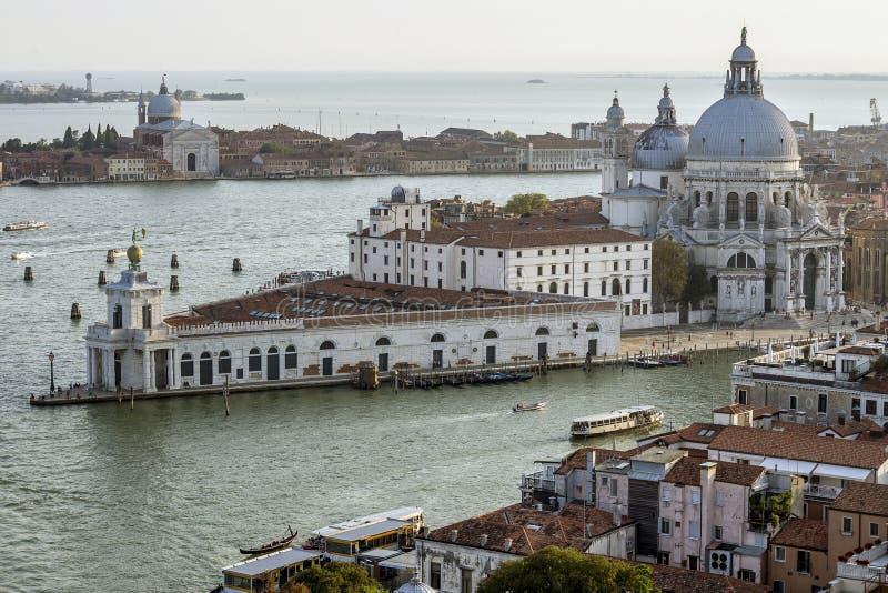 Saluto di della di Santa Maria della basilica, Venezia, Italia immagine stock
