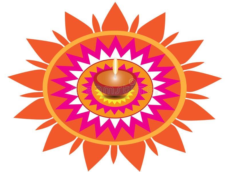 Saluto di Diwali di diya di Diwali della carta da parati di Diwali fotografia stock