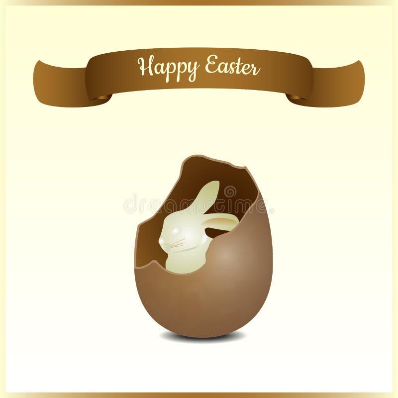 Saluto di Minimalistic e carta di regalo per Pasqua illustrazione di stock