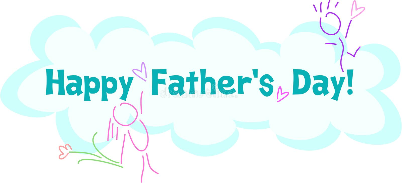 Saluto felice di giorno di Fatherâs illustrazione di stock