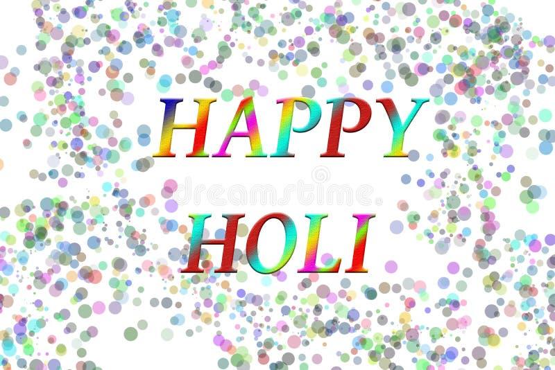 Saluto felice di stagioni di festival di Holi illustrazione vettoriale