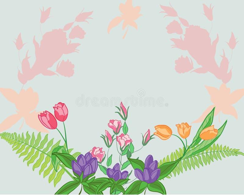 Saluto floreale fotografia stock