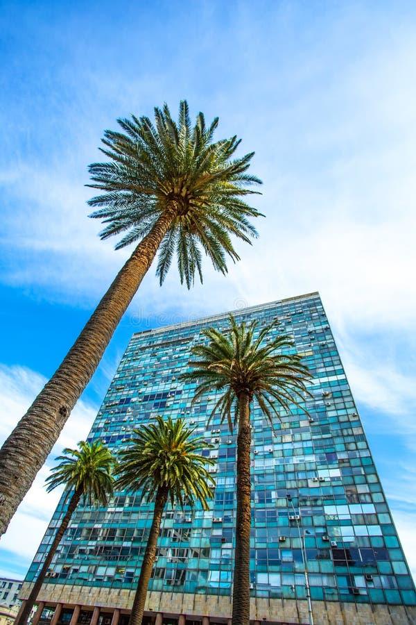 Salva de Palacio em Montevideo imagem de stock royalty free