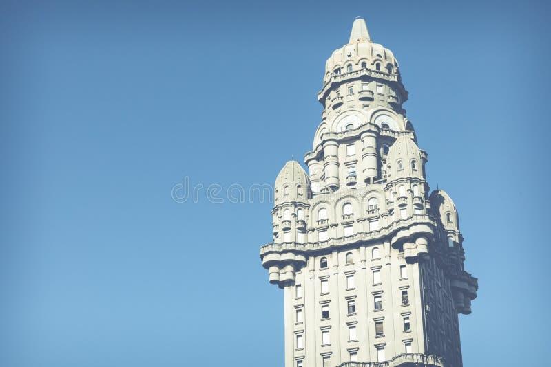 Salva de Palacio no centro da cidade de Montevideo, Uruguai fotografia de stock royalty free