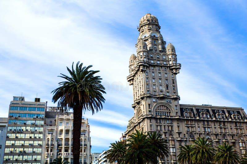 Salva di Palacio a Montevideo fotografia stock libera da diritti