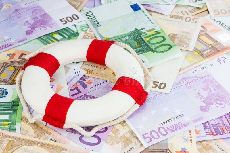 Salva-vidas do Euro fotografia de stock