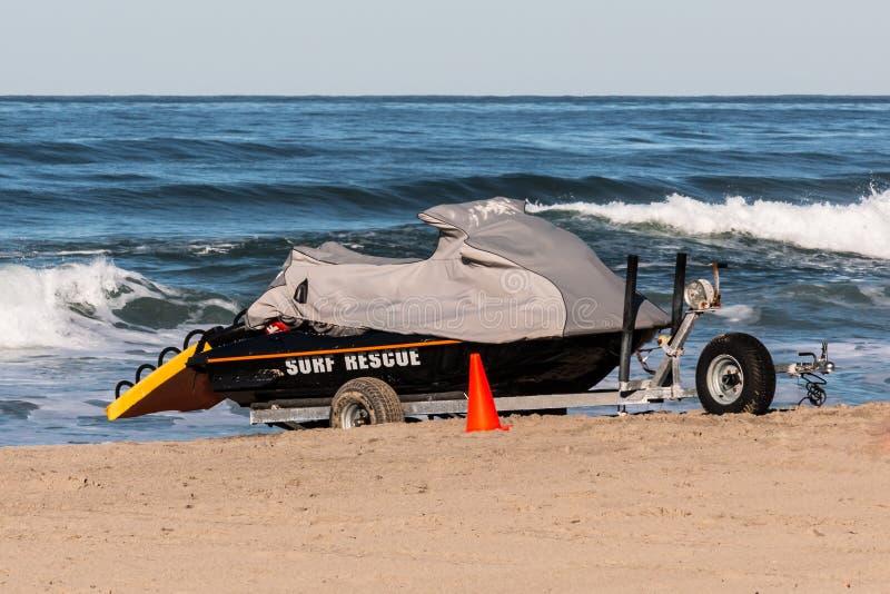 Salva-vidas Rescue Jet Ski em San Diego foto de stock royalty free