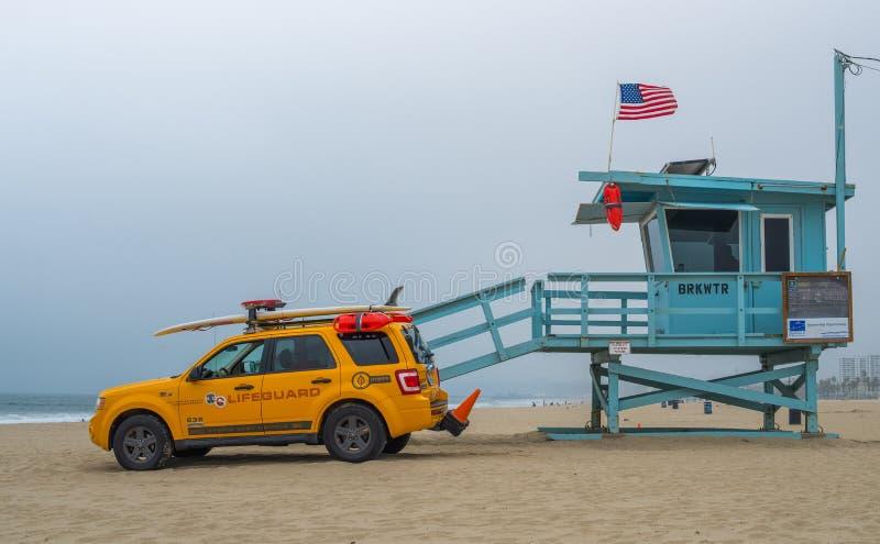 Salva-vidas Venice Beach fotografia de stock