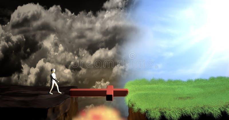 Salvación stock de ilustración