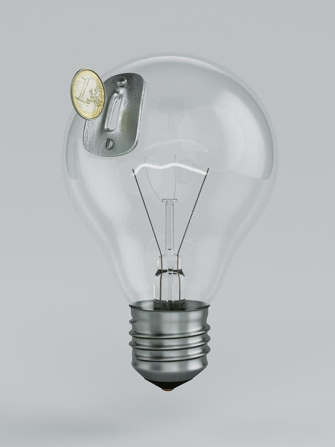 Salvadanaio della lampadina royalty illustrazione gratis