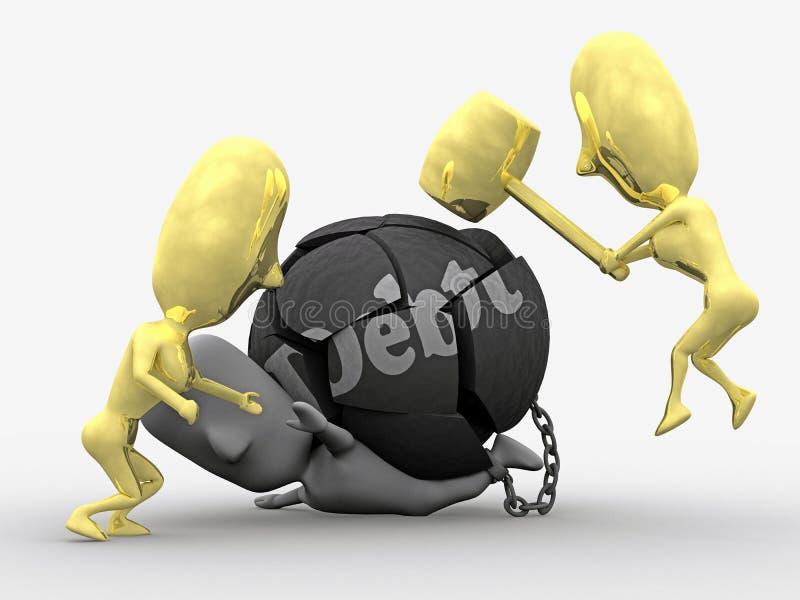 Salvado de deuda ilustración del vector
