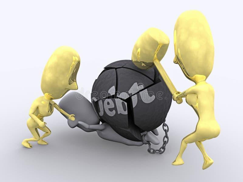 Salvado de deuda libre illustration