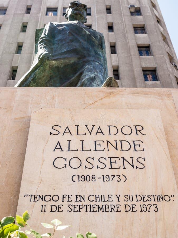 Salvador Allende pomnik obrazy stock