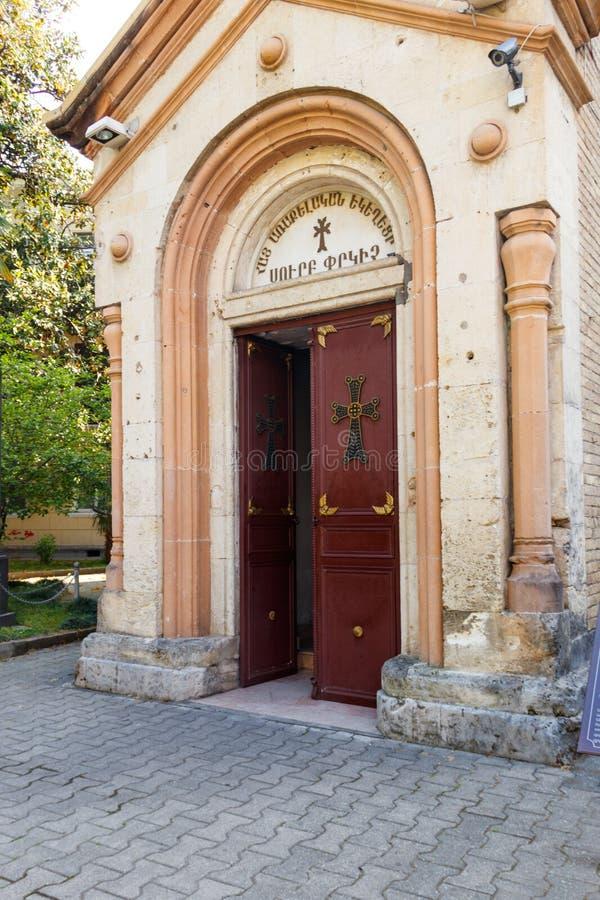 Salvador apostólico armenio del santo de Surb Cristo Amenaprkich de la iglesia foto de archivo libre de regalías