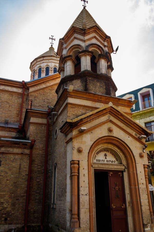 Salvador apostólico armenio del santo de Surb Cristo Amenaprkich de la iglesia en Batumi, Georgia foto de archivo
