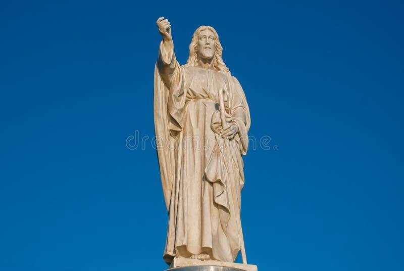 SALVADOR, BAÍA, BRASIL: Monumento de Jesus Christ em Salvador imagens de stock royalty free