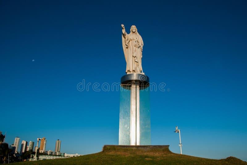 SALVADOR, BA?A, BRASIL: Monumento de Jesus Christ em Salvador imagem de stock
