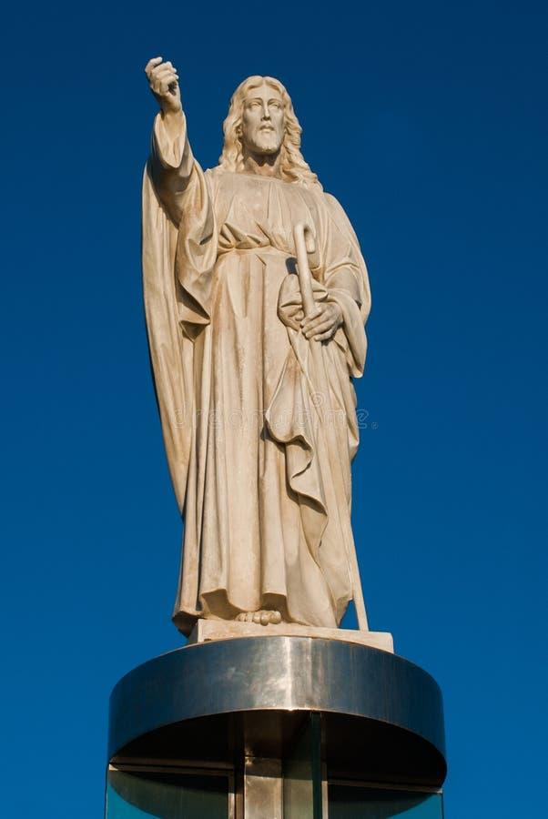 SALVADOR, BA?A, BRASIL: Monumento de Jesus Christ em Salvador fotos de stock