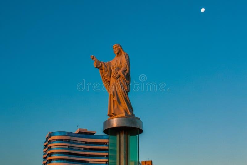 SALVADOR, BA?A, BRASIL: Monumento de Jesus Christ em Salvador imagens de stock royalty free