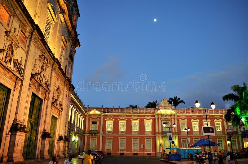 Salvador, Bahia, Brasilien - 22. Dezember 2015: Largo terreiro de Jesus lizenzfreie stockfotos