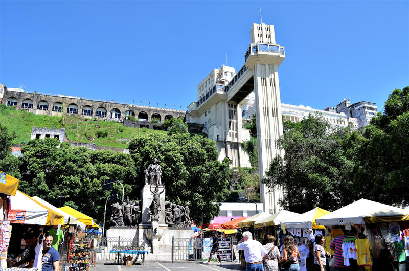 Salvador, Bahia, Brazylia Luty 27, 2013: Lacerda winda obraz royalty free