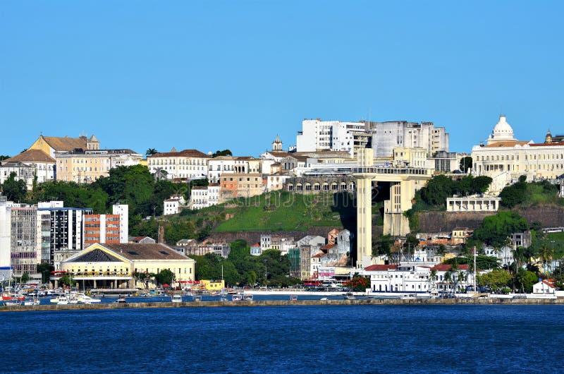 Salvador, Bahia, Brazylia Luty 27, 2013: Salvador widzieć od morza zdjęcia royalty free
