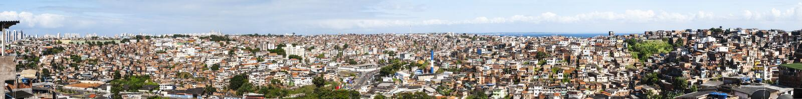 Salvador in Bahia, panoramic view. Panoramic view of Salvador in Bahia, Brazil stock images