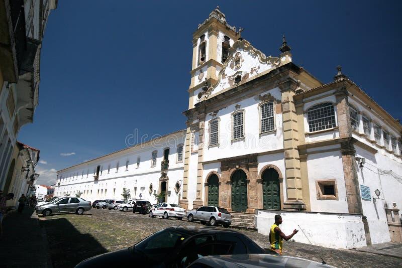 Salvador, Brazilië - Januari, 2017: Igrejanosso Senhor do Bonfim kerk, Salvador Salvador de Bahia, Bahia, Brazilië, Zuid-Amerika stock afbeelding