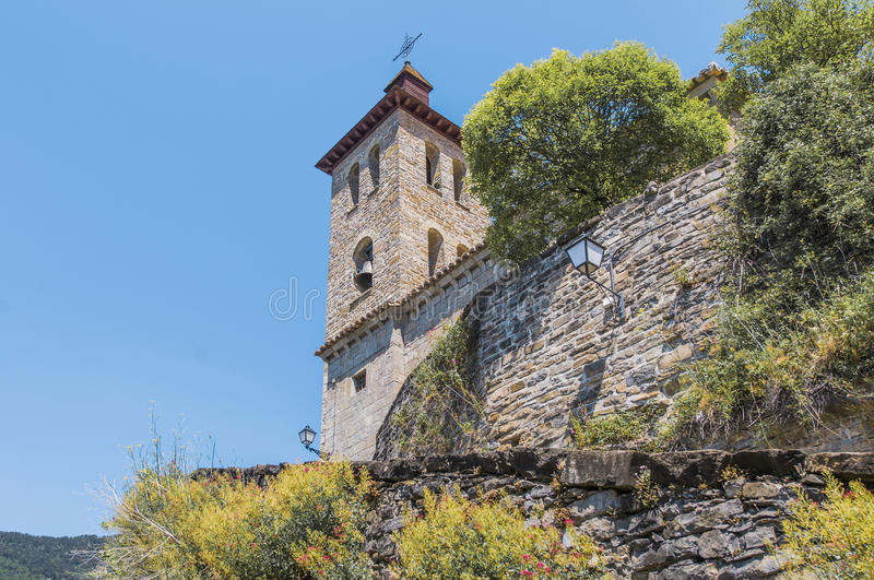 Download Salvador Church At Biescas, Spain Stock Image - Image of belltower, pyrenees: 39508829