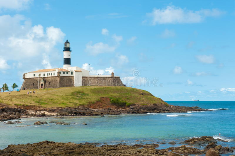 Salvador da Bahia. Barra lighthouse, Salvador - Bahia - Brazil stock photography