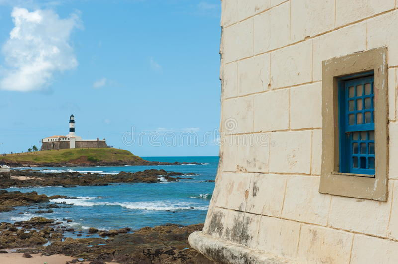 Salvador da Bahia. Barra lighthouse, Salvador - Bahia - Brazil stock photos