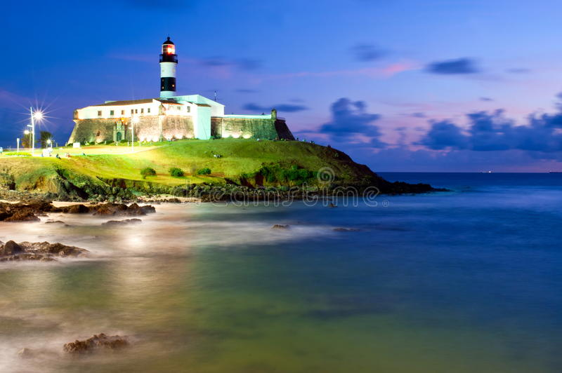 Salvador da Bahia. Brazil - Barra lighthouse stock photos