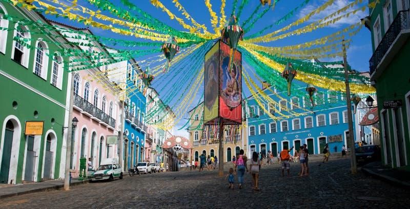 Salvador da Bahia, centro storico del Brasile fotografia stock libera da diritti