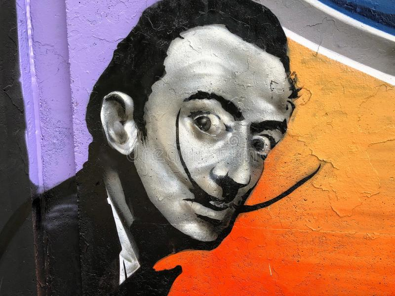 Salvador Dalí painting royalty free stock photography