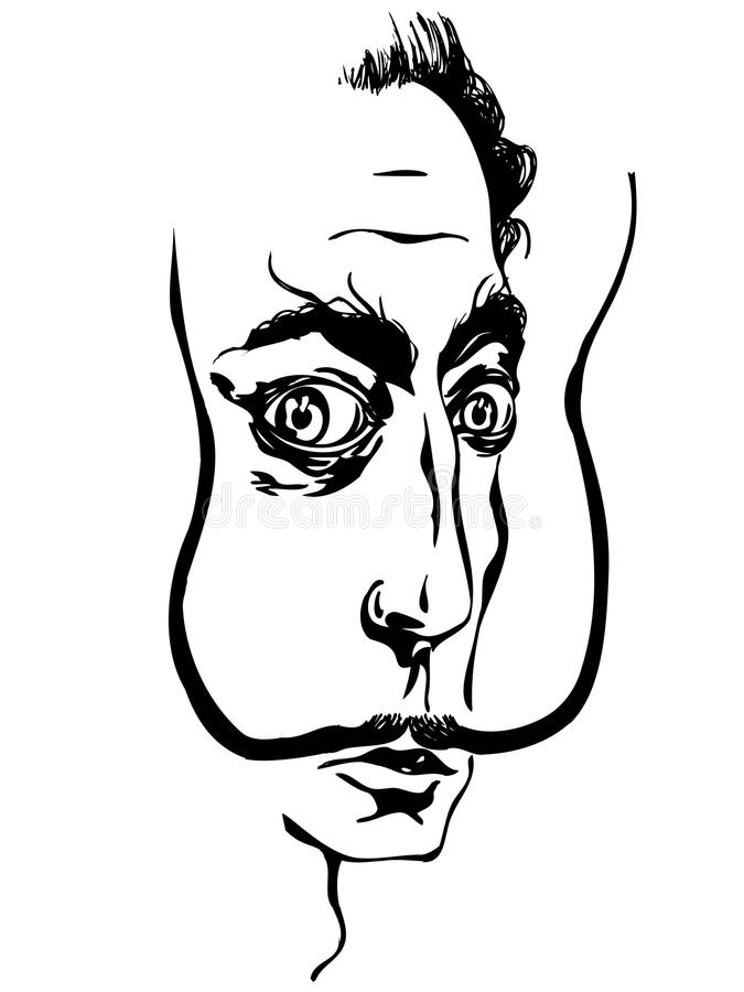 Salvador Dali ilustración del vector
