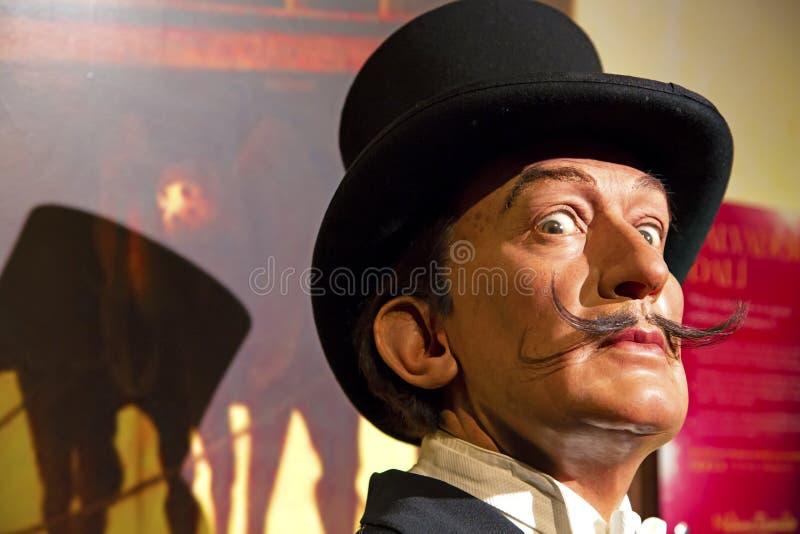 Salvador Dali in Mevrouw Tussauds van New York stock afbeelding