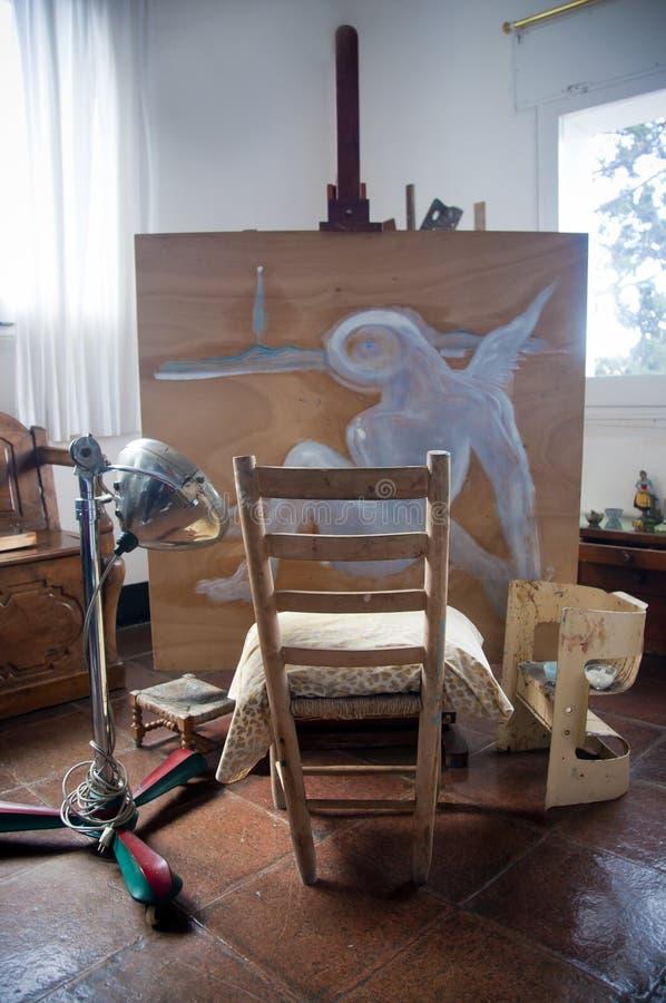 Salvador Dali studio i Portlligat, Cadaques arkivbilder