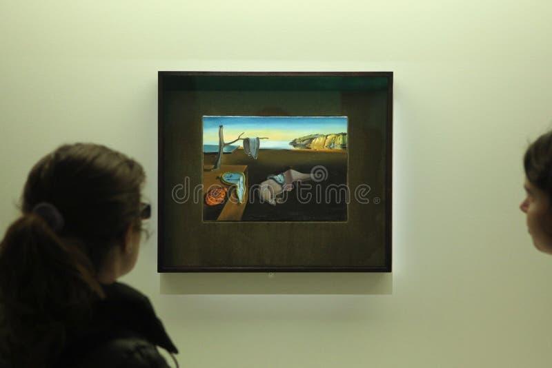 Salvador Dali wystawa w Pompidou Centre, Paryż obrazy stock